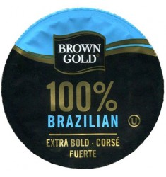 Brown Gold 100% Brazilian, Single Serve Coffee