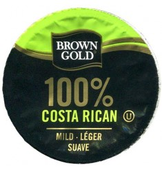 Brown Gold 100% Costa Rican, Single Serve Coffee
