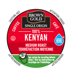Brown Gold 100% Kenyan, Single Serve Coffee
