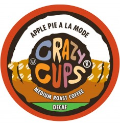 Crazy Cups Decaf Apple Pie A La Mode, Single Serve Coffee