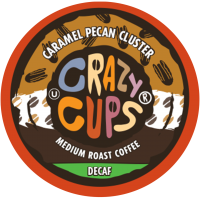 Crazy Cups Decaf Caramel Pecan Cluster, Single Serve Coffee
