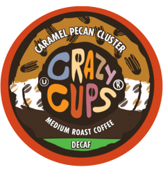 Crazy Cups Decaf Caramel Pecan Cluster Coffee