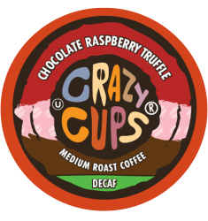 Crazy Cups Decaf Chocolate Raspberry Truffle, Single Serve Coffee
