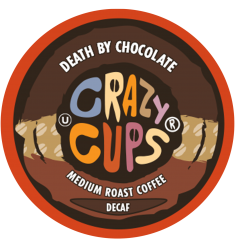 Crazy Cups Decaf Death By Chocolate, Single Serve Coffee