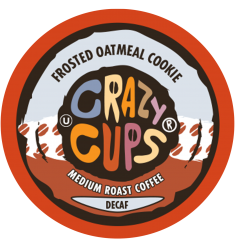 Crazy Cups Decaf Frosted Oatmeal Cookie, Single Serve Coffee