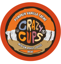 Crazy Cups Decaf Pumpkin Vanilla Creme, Single Serve