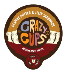 Crazy Cups Peanut Butter & Jelly Sandwich, Single Serve Coffee