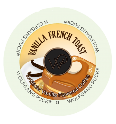 Wolfgang Puck French Toast, Single Serve Coffee
