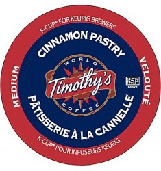 Timothy's Cinnamon Pastry, Single Serve Coffee