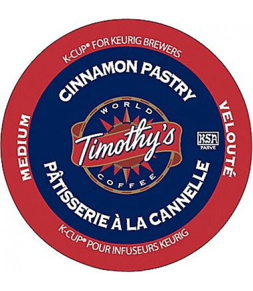 Timothy's Cinnamon Pastry, Single Serve Coffee