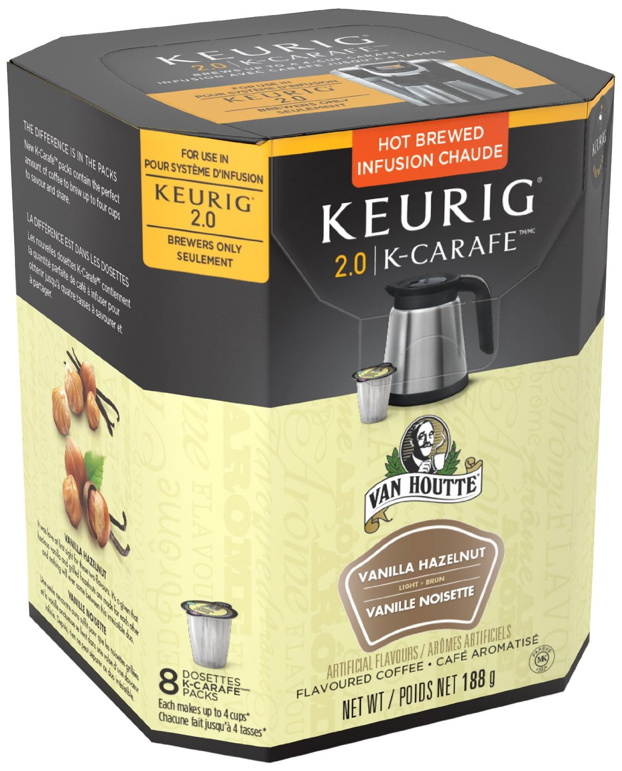 van houtte vanilla hazelnut kcarafe keurig kcup compatible available in our canada store